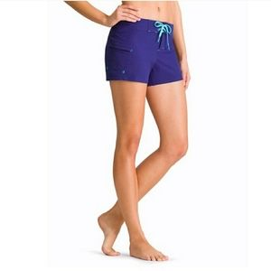 "Athleta Clearwater 4"" Shorts Almafi Blue size 12"